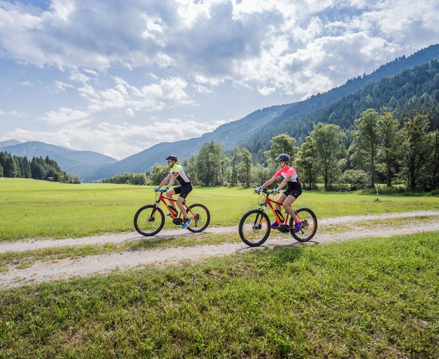 Mountain bike & e-bike lungo la Val Pusteria e nelle montagne
